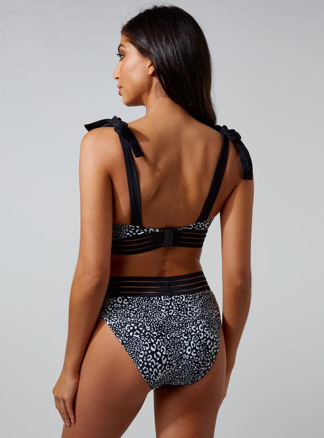 Baros leopard triangle bikini top