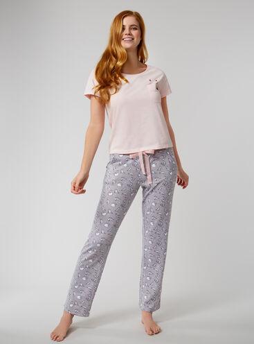 Peekaboo cat pyjama set