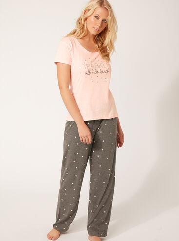Sparkle pyjama gift set
