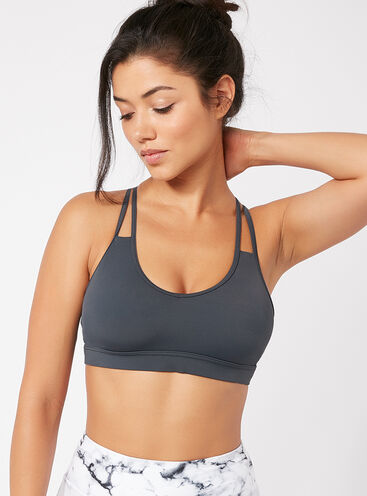 Activewear strappy crop top
