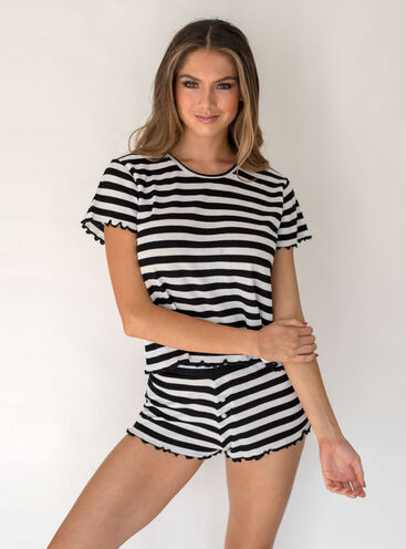 STRIPE TEE AND SHORT