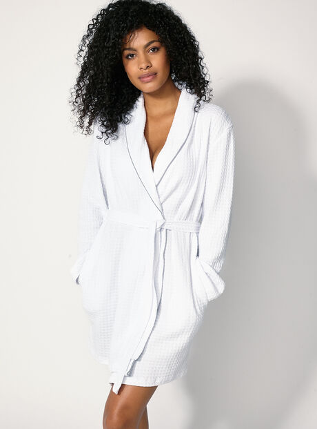 Waffle dressing gown