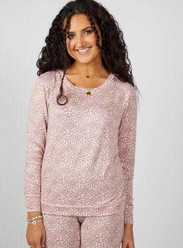 Ditsy leopard print twosie pyjama set