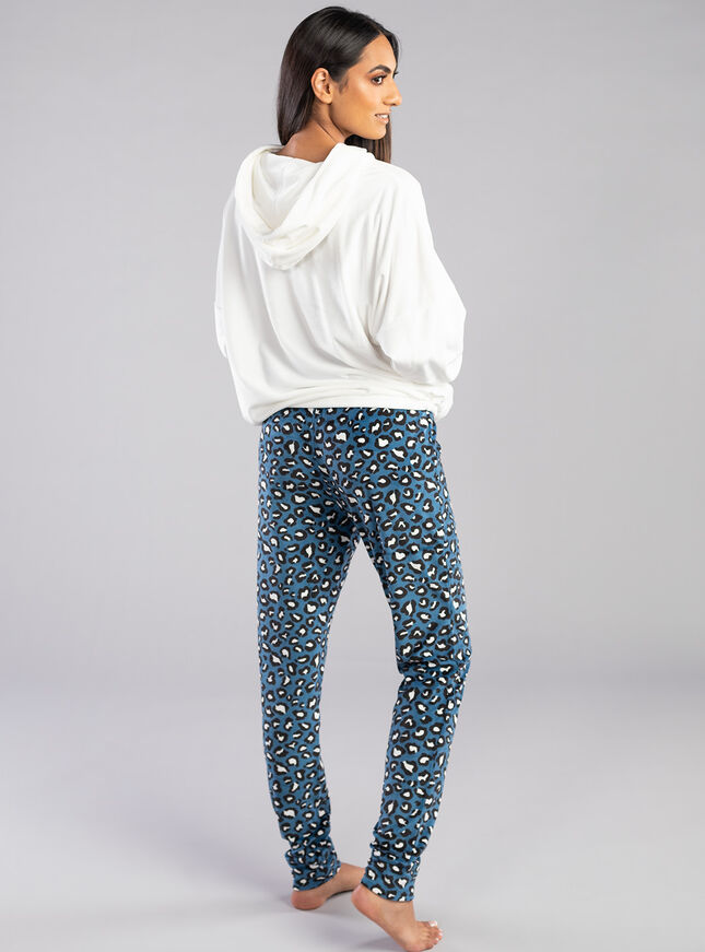 Leopard velour legging