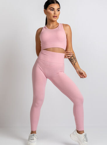 Boux Sport Smoothing ribbed seamless leggings