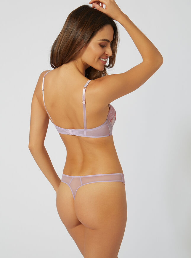 Harriet satin thong