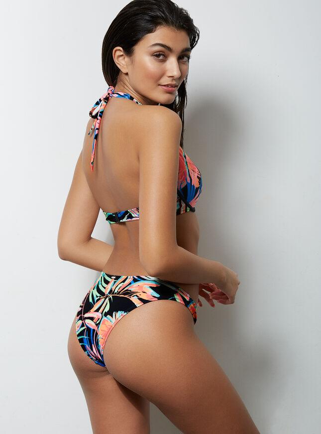Ibiza printed bikini top