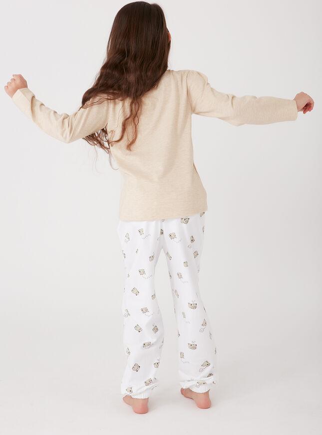 Girls pugs in a row pyjama set