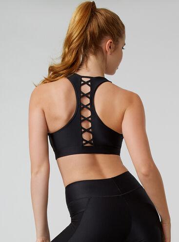 Activewear lattice crop top
