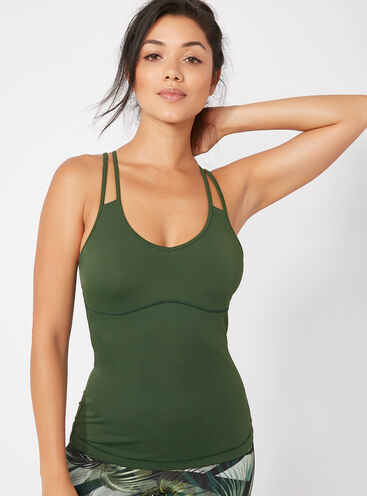 Activewear strappy vest