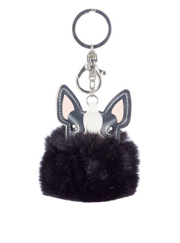 Fluffy dog keyring