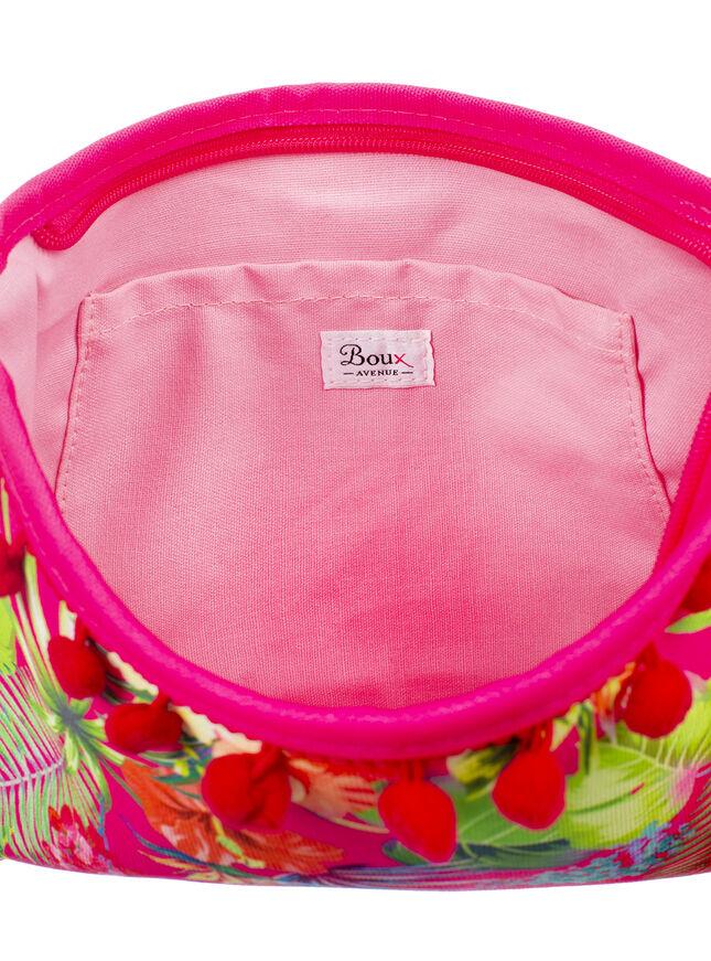 Tropical floral clutch bag