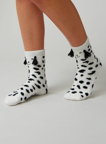 Dalmatian cosy socks