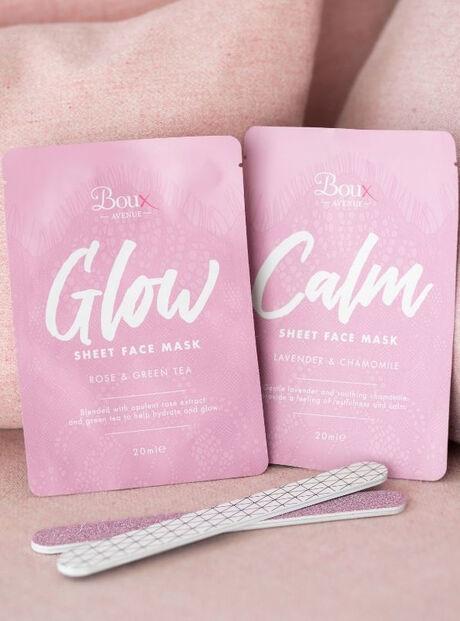 Calm sheet face mask