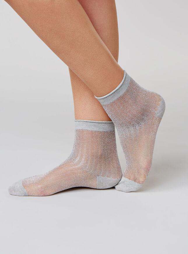 Sheer lurex socks