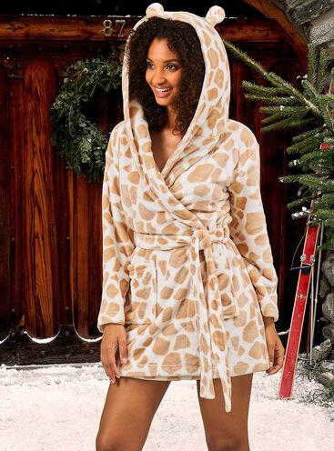 Giraffe dressing gown