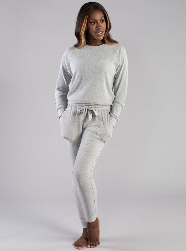Lillie ribbed lounge top