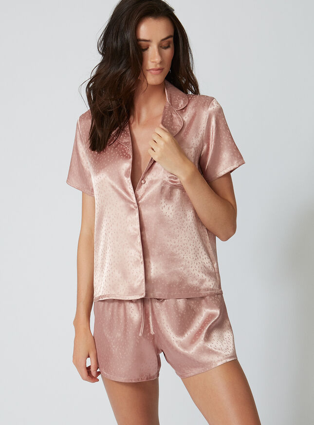 Satin jacquard pyjama set