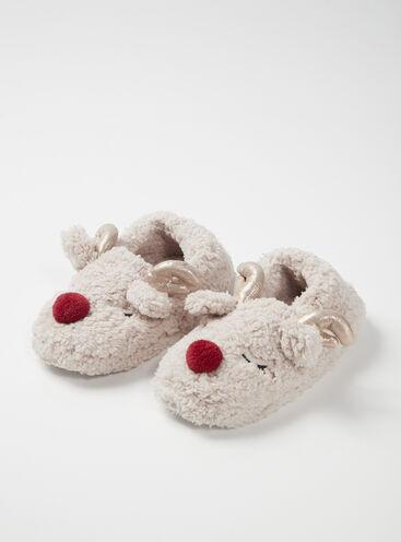 Reindeer borg mule slippers