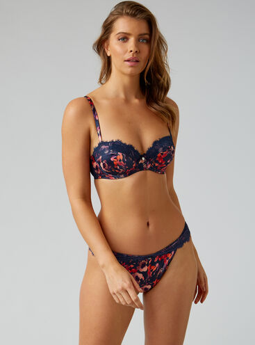Valerie floral thong