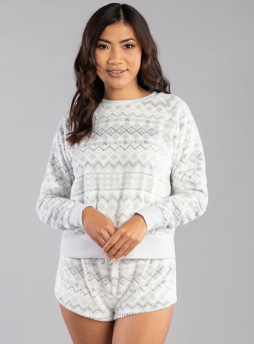 Fairisle plush short set