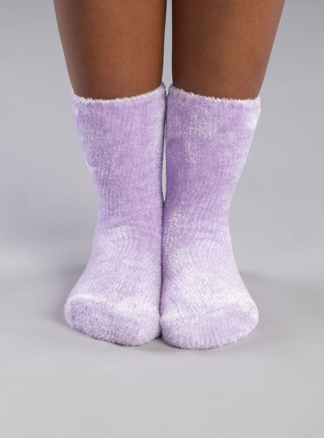 Velvet fleece socks