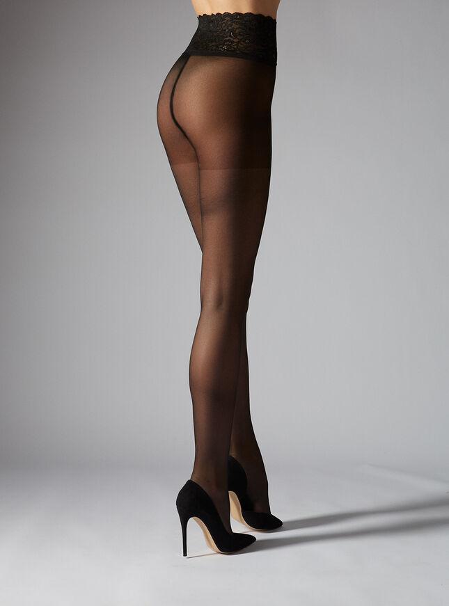 Lace top tights 20 denier
