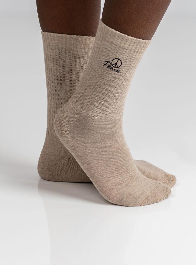2 Pack slogan socks