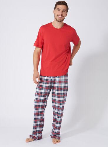 Mens tartan pyjama set