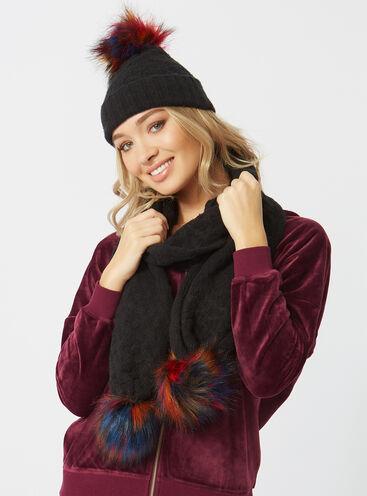 Pom pom bobble scarf