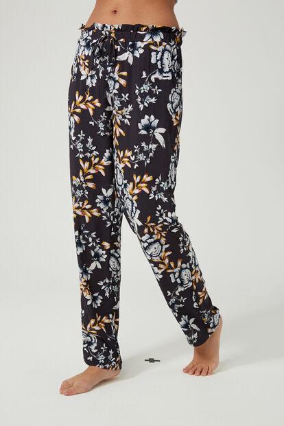 Dark floral pyjama pants