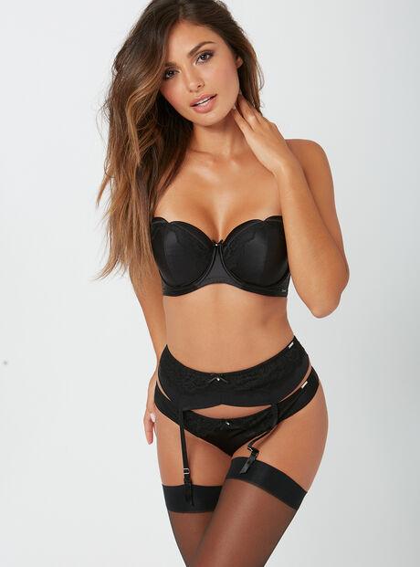 Esther satin suspender belt