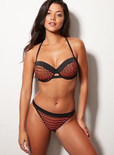 Laser cut bikini briefs