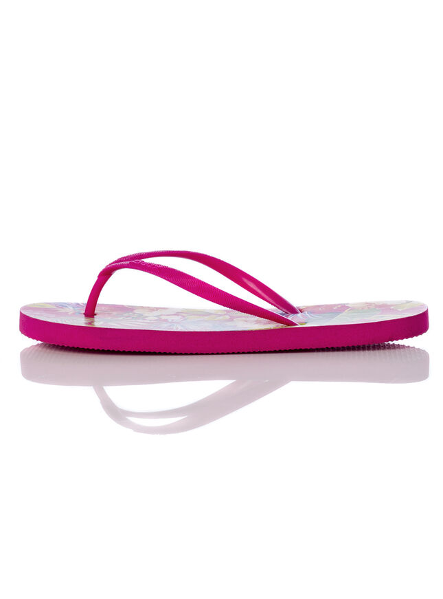 Tropical floral flip flops
