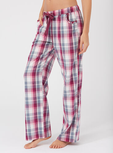 Mix & match check pyjama pants