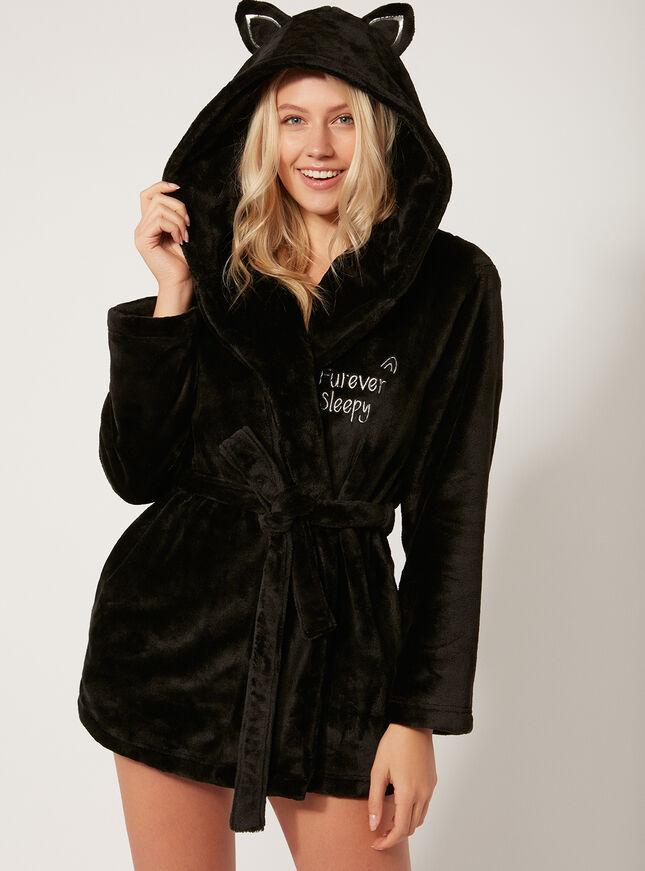 Black Cat Dressing Gown Boux Avenue