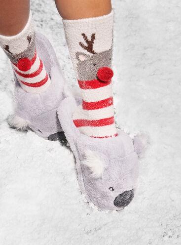 Reindeer cosy socks