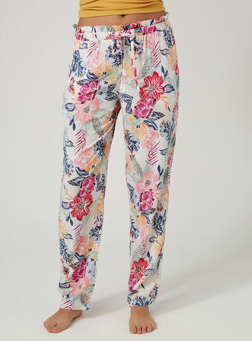 Tropical floral pyjama pants