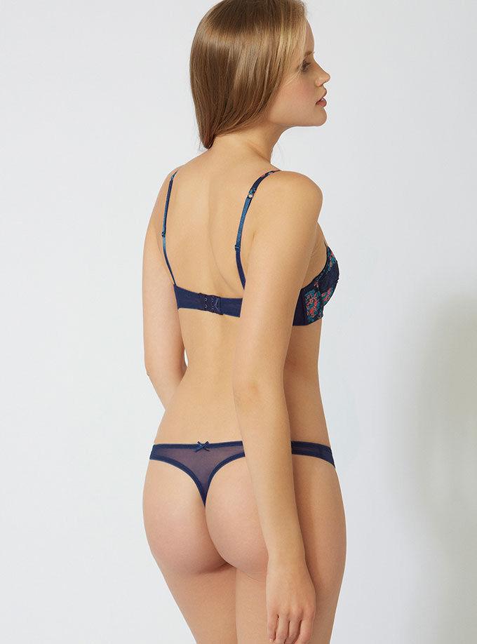 eb7a9921a4298 Evie floral balconette bra. Model wears size 32C