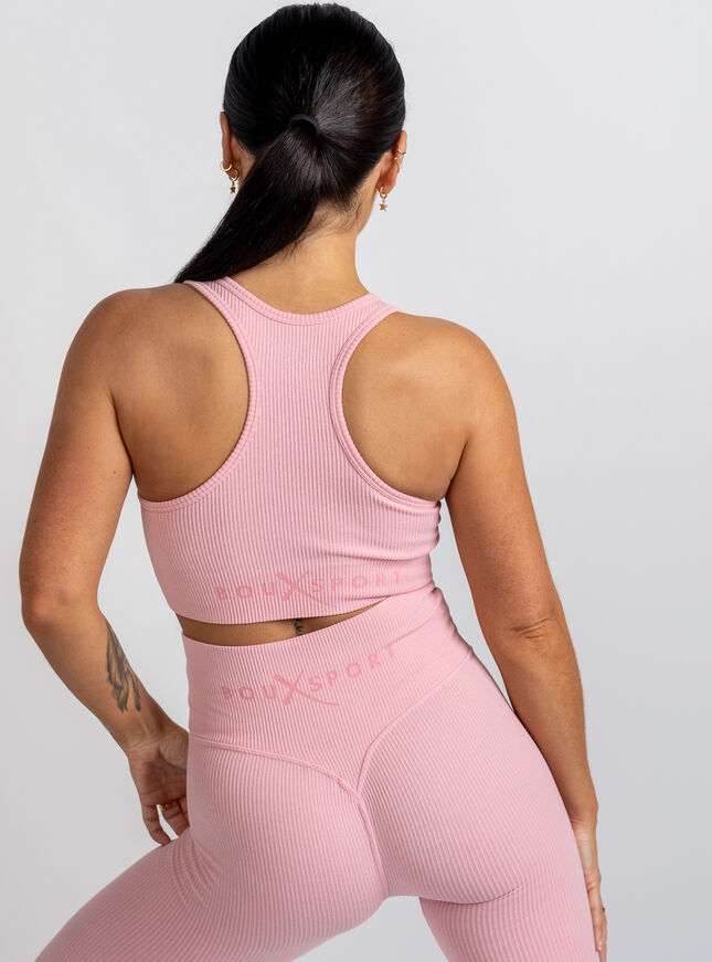 Boux Sport ribbed seamless crop top