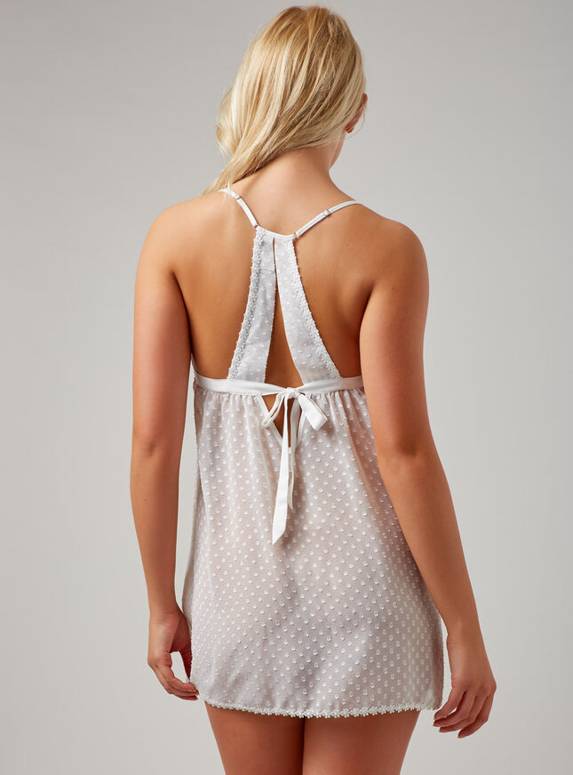 Chiffon and daisy trim chemise