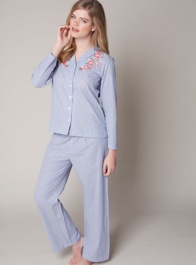 Prairie floral embroidered pyjama set