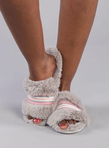 Ribbon detail slider slippers