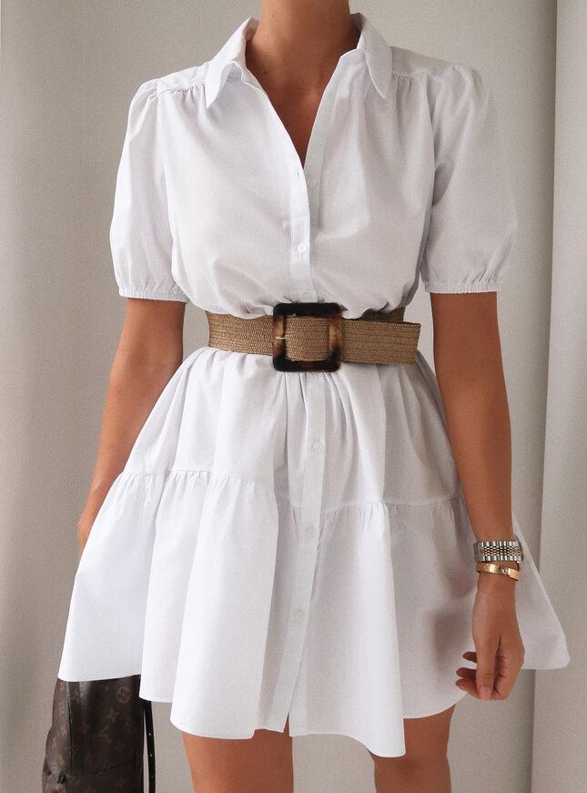 Saffron smock shirt dress