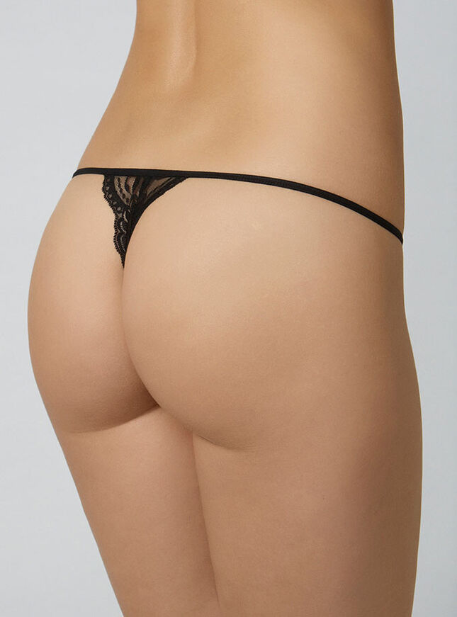 Mesh and lace G-string