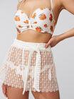 Crochet lace beach shorts