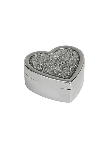 Glitter heart shaped trinket box