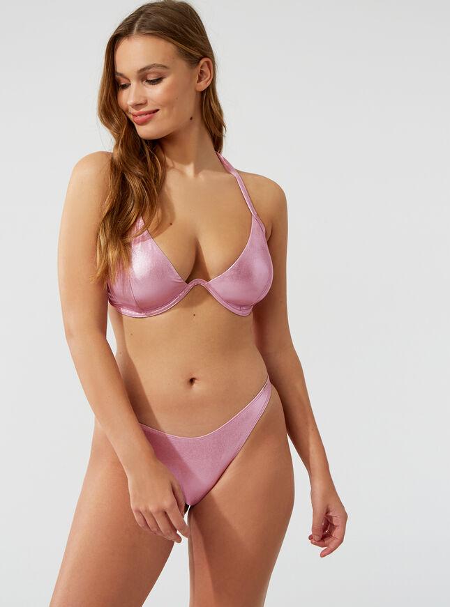 Ibiza glitter bikini top