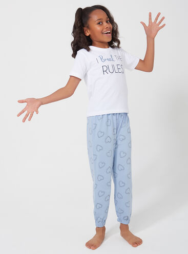 Girls 'I Break the rules' pyjama set