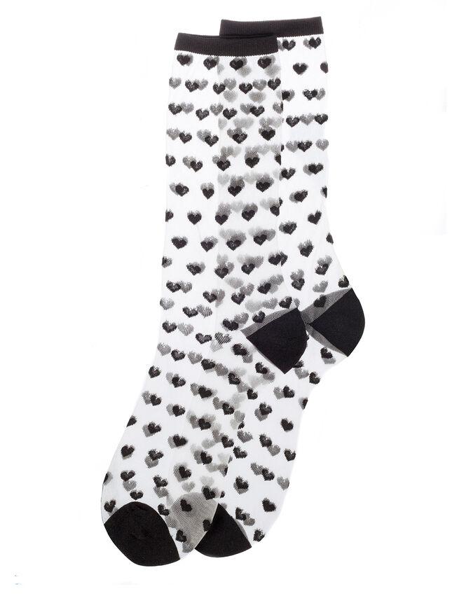 Sheer heart socks